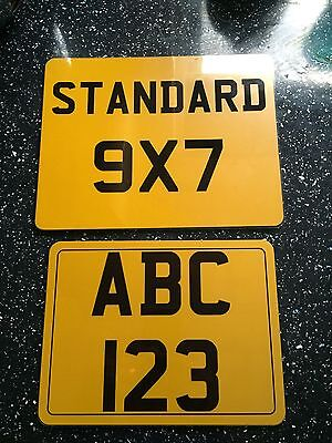 8x6 number plate motorbike motor cycle bike show plate motorcycle.