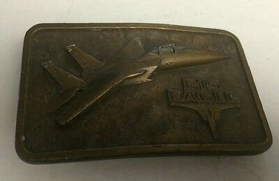 Vintage Brass F-15 Eagle Buckle Connection Belt Patina 1977 Nice