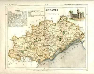Herault, French Department.  Cartographer V. Monin, c1833