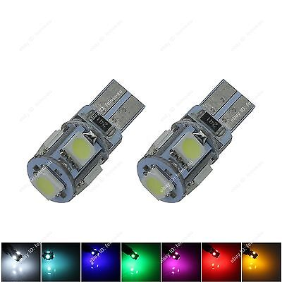 2X T10 5050 5SMD W5W 194 168  LED Canbus Error Free Lamp Wedge Light Bulb DC 12V