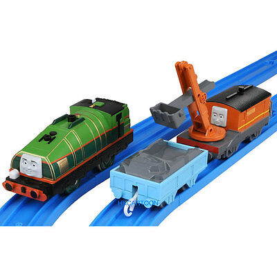 2015 New Takara Tomy Thomas Motorized Ts-18-2 Gator + Marion W/ 2 Trucks 826095