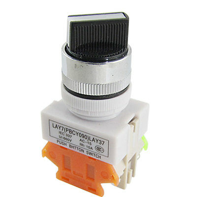 """1 NO 1 NC Two 2 Position Self Locking Rotary Select Selector Switch 22mm 7/8"""""""