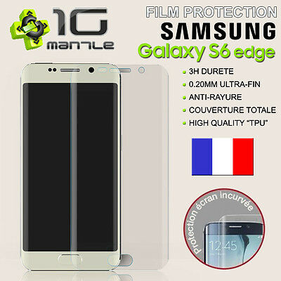 Film Protection/Protege Ecran SAMSUNG GALAXY S6 EDGE Total/Incurvé 3D
