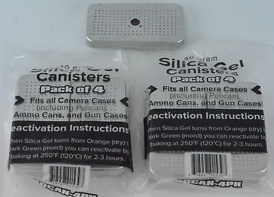 8 pack 40 Gram Silica Gel Desiccant Canisters