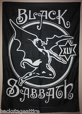 Black Sabbath Ozzy XLV 45th Anniversary Cloth Poster Flag Fabric Tapestry-New!