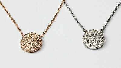 14k White or Rose Gold Cupola Diamond  Necklace ( Dia 0.43cts)