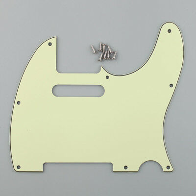 Tele Style 3ply Scratchplate Pickguard Mint Green Fits Telecaster Guitar Parts