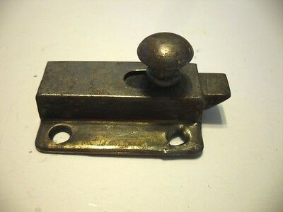 Vintage STEEL Hoosier Cabinet Cupboard Door Spring Slide Latch (No Catch Keeper)