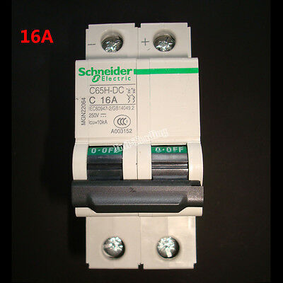16A DC Breaker 250V Circuit Breaker 2 Pole - Solar Isolator C65H-DC