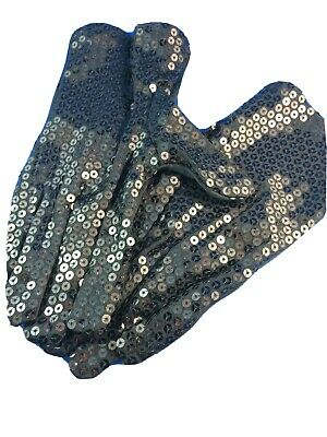 Black sequined gloves pair sequins fancy dress michael jackson look short glove