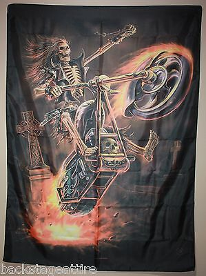 "ANNE STOKES Hell Rider 29""X43"" Cloth Poster Flag Fabric Textile Tapestry-New!"