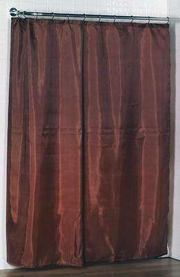 100% Polyester fabric shower curtain liner w/weighted bottom hem ...