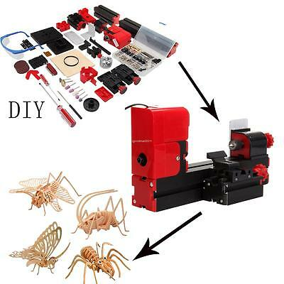 6 in 1 Mini Drehmaschine Drehbank Metalldrehbank Metalldrehmaschine DIY Tool Kit