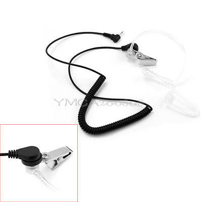 1 Pin 3.5mm Listen Only Headset Mic Clear Acoustic Tubing Earpiece For Radio