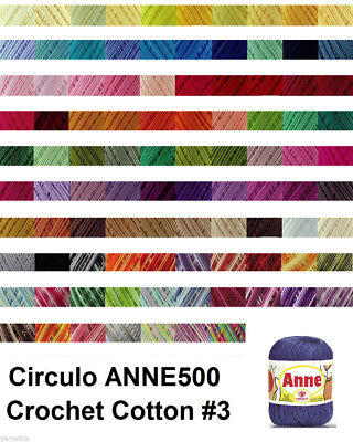 Circulo ANNE500 Crochet Cotton Knitting Yarn Solid #3 500m150g