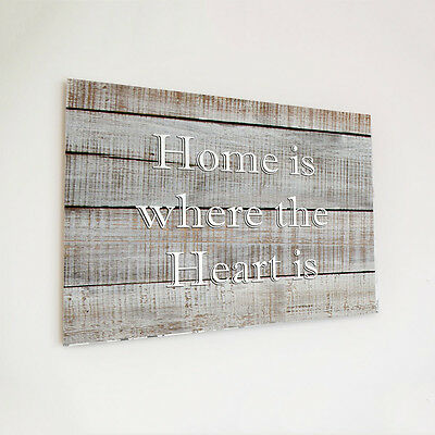 Wooden plaque printed custom personalised home is picture gift wood shabby chic