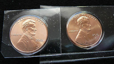 2010 P-D Lincoln Shield Penny In Mint Plastic  G-16-15
