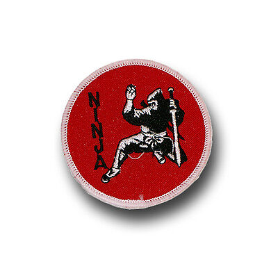 Martial arts/ninja embroidered badge/patch - 78mm diameter - FREE p&p