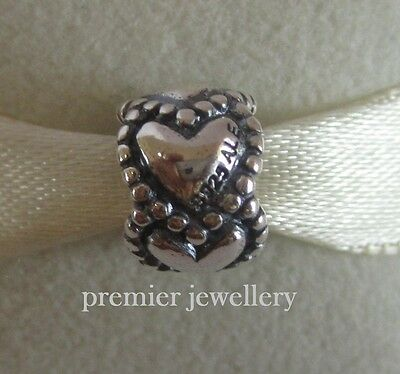 Authentic Genuine Pandora Sterling Silver Everlasting Love Bead Charm 790448