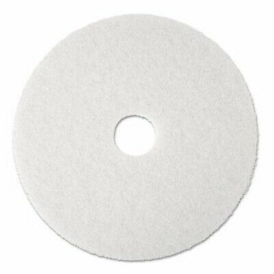 "3M White 20"" Super Polish Floor Pad 4100, 5 Pads (MMM08484)"