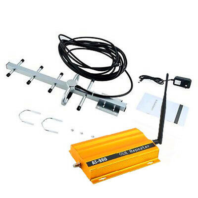 GSM 900MHz Mobile Phone Signal Booster Repeater Amplifier + Yagi Antenna SW