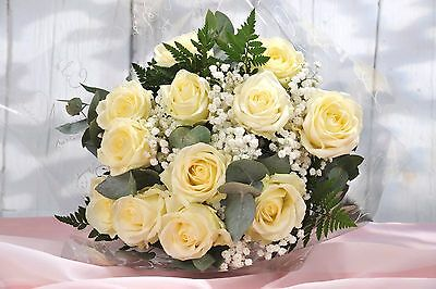 12 White Roses | FREE UK Next Day Delivery | Fresh Real