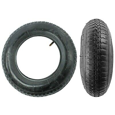 2 Wheelbarrow Wheel Inner Tube and Barrow Tyre 3.50 / 4.0 - 8 + Innertube 35PSi
