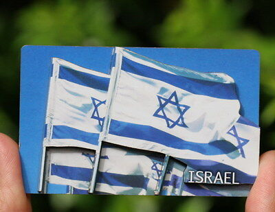 Israel Flag 3D MAGNET Israeli State country Banner Star of David Jewish Judaica