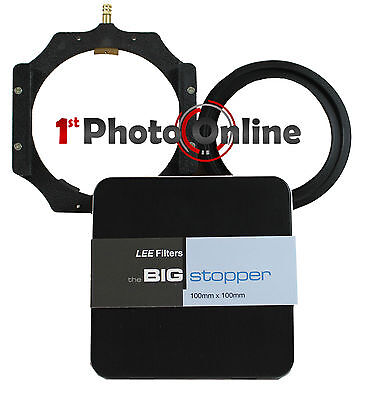 Lee 4x4 Big Stopper 10 Stop ND 100mm Filter + 4x4 Filter Holder + w/a 82mm Ring