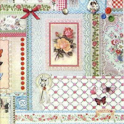 4x Paper Napkins for Decoupage Decopatch Craft Pattern