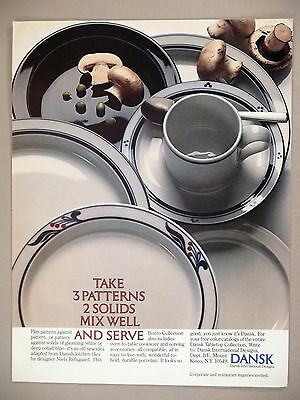 Dansk Bistro Collection PRINT AD - 1982 ~ tableware, cookware