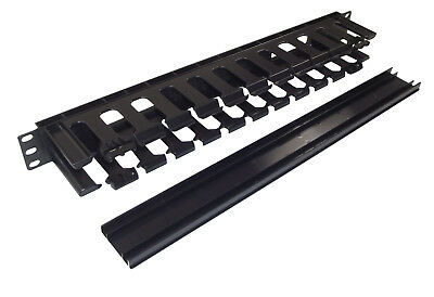 """PACK OF 10x 1u Cable Dump Tidy Panel - Trunking Management for 19"""" Rack Cabinet"""