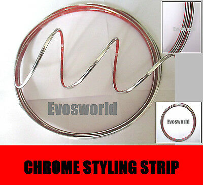Chrome Styling Strip Detail Moulding 3.5 Mm Self Adhesive Trim
