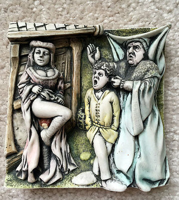 HARMONY KINGDOM Wimberley Tales Picturesque Relief Tile THE HARLOT NIB $35