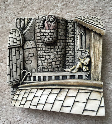 HARMONY KINGDOM Wimberley Tales Picturesque Relief Tile THE LOVERS NIB $35