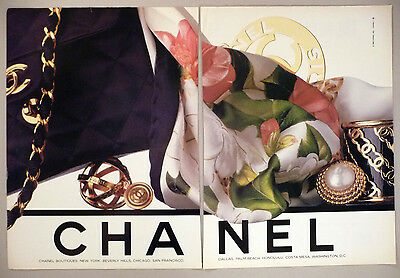 Chanel Boutiques 2-Page PRINT AD - 1990