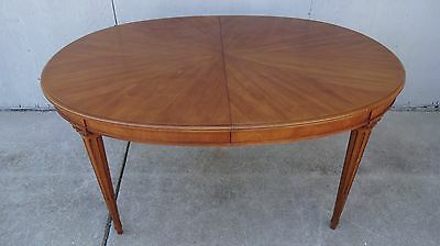 Vintage Mid Century Henredon Dining Oval Table Neoclassical Empire