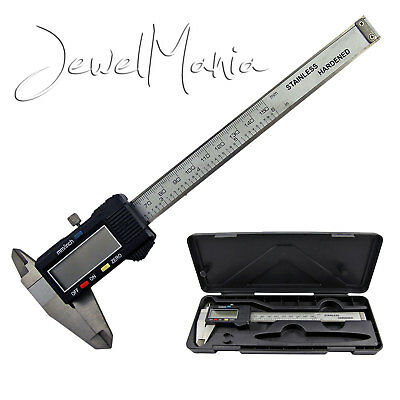 "6"" 150mm Digital Steel Caliper Electronic Micrometer LCD Measuring Gauge Tool"