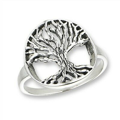 Sterling Silver TREE OF LIFE Celtic Jewelry Ring 925 Size 5-9