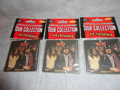 Ac/dc Highway To Hell Logo Rock Air Freshener Set Of 3 Vanilla Scented