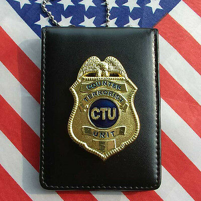 24 Hours TV Series CTU Special Agent Prop Badge With Holder & Chain-US154