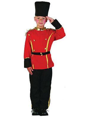 Boys Kids Queens Guard British Soldier Fancy Dress Up Costume Outfit 3-10 Years