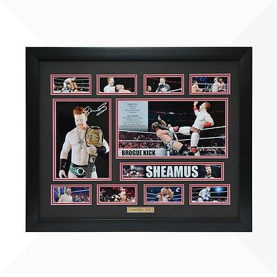 Sheamus WWE Signed & Framed Memorabilia - Black/Red Limited Edition