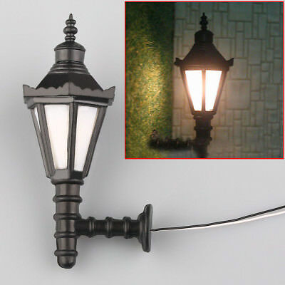 5pcs Train Railway Park Led Lamppost Lamps Wall Lights Model Scale 1:25 3V
