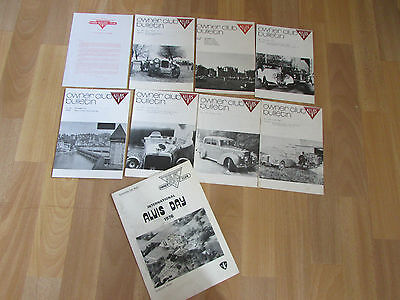 Original 1970' s  ALVIS Owners Club Bulletins Including 1976 Tour Day programme
