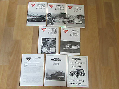 1980' s ALVIS Owners Club Bulletins inc 4.3 Litre Register & HAREWOOD House 1986