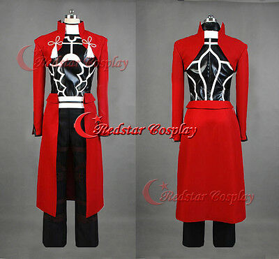Fate Stay Night Emiya Archer Red Cosplay Costume Uniform