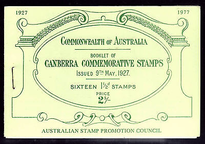 1977 National Stamp Week Canberra Replica booklet.  Immaculate  •  FREE POST  •