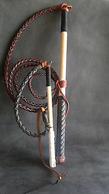 4ft Red Hide Stock Whip Stockwhip, free mini whip