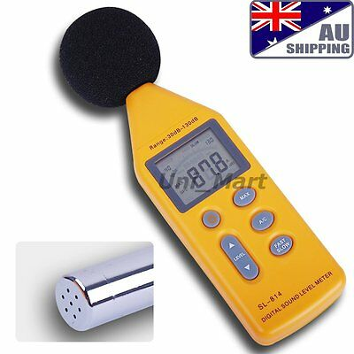 AU SL-814 Digital Sound Noise Level Meter 130 dB Decibel Pressure Data Logging